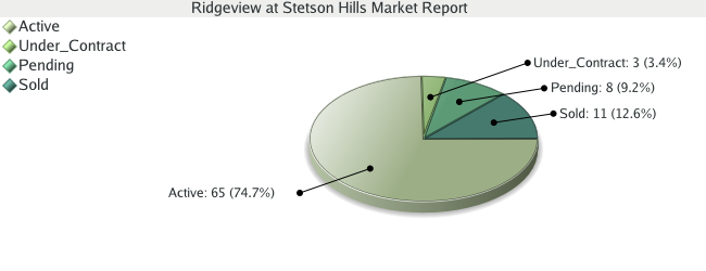 Colorado Springs Real Estate - Market Report for Ridgeview at Stetson Hills - November 2008